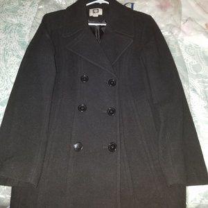 Womens Pea Coat in black